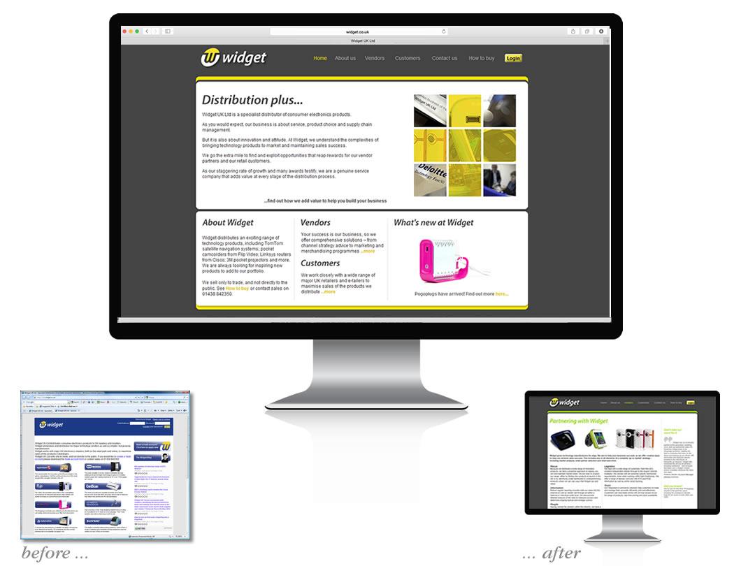widget website redesign