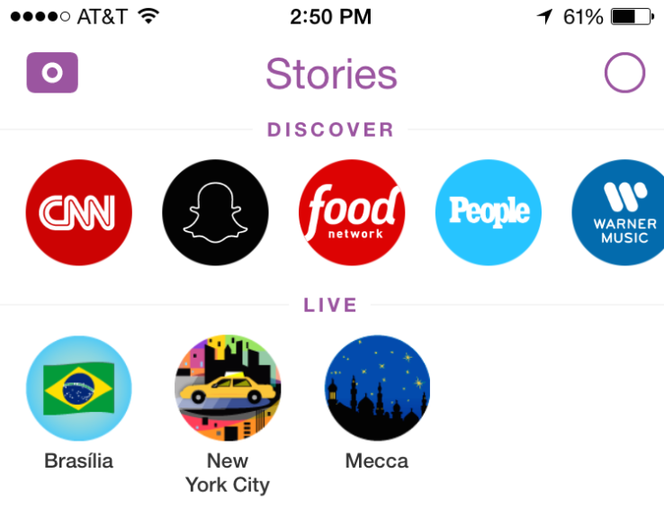 """Snapchat Redesign Moves """"Discover"""" To Top Of Stories Tab"""